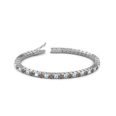 Foto van Tennisarmband Jenny 585 witgoud bruine diamant 4.32 crt