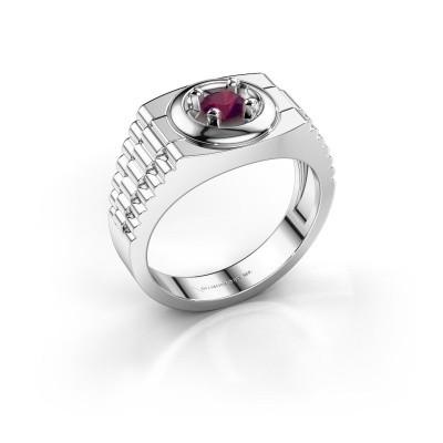 Foto van Rolex stijl ring Edward 925 zilver rhodoliet 4.7 mm
