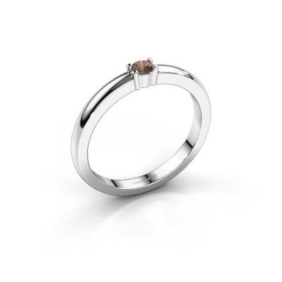 Foto van Promise ring Yasmin 1 925 zilver bruine diamant 0.08 crt