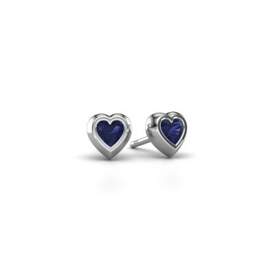 Picture of Stud earrings Charlotte 925 silver sapphire 4 mm