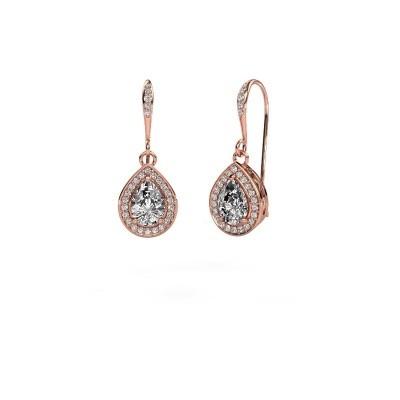 Picture of Drop earrings Beverlee 2 375 rose gold zirconia 7x5 mm