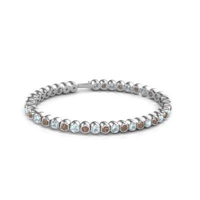 Foto van Tennisarmband Mellisa 585 witgoud bruine diamant 7.200 crt