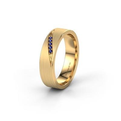 Trouwring WH2148L25AM 375 goud saffier ±5x1.7 mm