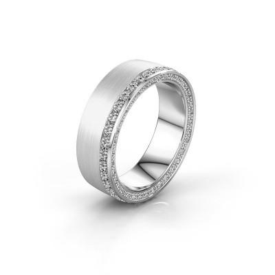 Trouwring WH2224L26C8 585 witgoud diamant 0.54 crt ±6x2.2 mm