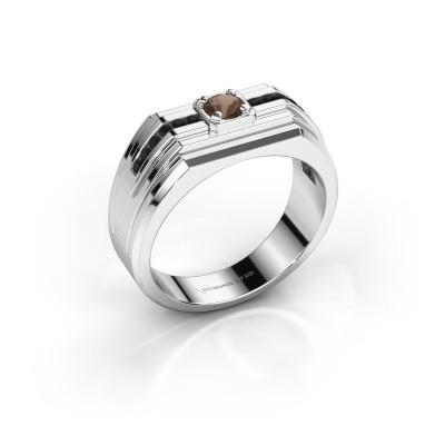 Foto van Heren ring Oliver 925 zilver rookkwarts 4 mm