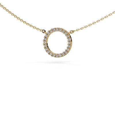 Picture of Pendant Circle 585 gold zirconia 1.2 mm