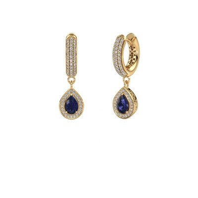Picture of Drop earrings Barbar 2 585 gold sapphire 6x4 mm