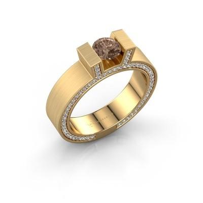 Foto van Ring Leena 2 375 goud bruine diamant 1.08 crt