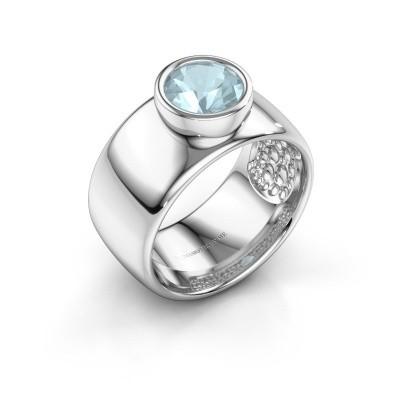 Foto van Ring Klarinda 925 zilver aquamarijn 7 mm