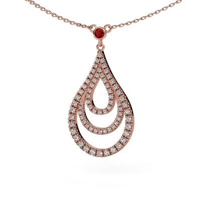 Picture of Pendant Delpha 375 rose gold ruby 1.4 mm
