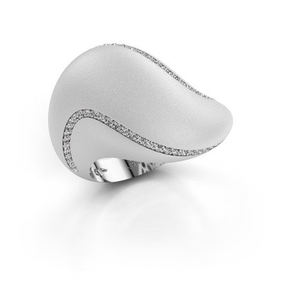 Foto van Ring Phyliss 585 witgoud diamant 0.36 crt
