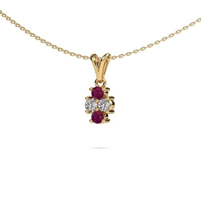 Picture of Necklace Richelle 375 gold rhodolite 3 mm