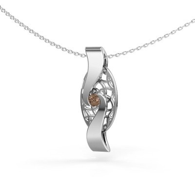 Picture of Pendant Darleen 925 silver brown diamond 0.10 crt