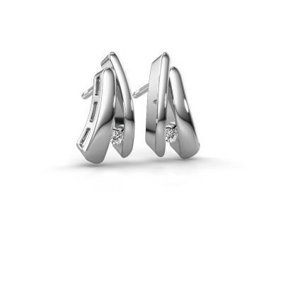 Bild von Ohrringe Liesel 925 Silber Diamant 0.06 crt