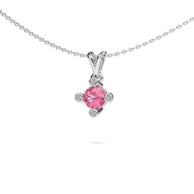 Picture of Pendant Cornelia Round 950 platinum pink sapphire 5.5 mm