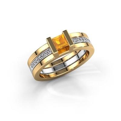 Foto van Ring Desire 585 goud citrien 4 mm