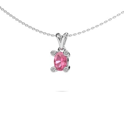 Picture of Necklace Cornelia Oval 950 platinum pink sapphire 7x5 mm