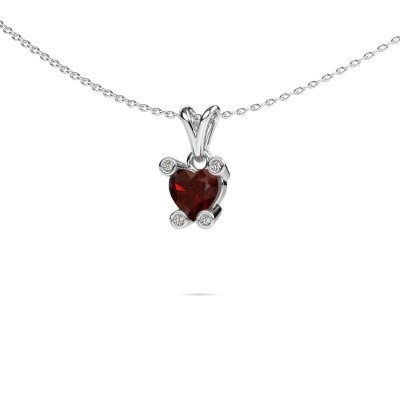 Picture of Necklace Cornelia Heart 950 platinum garnet 6 mm