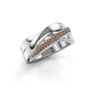 Picture of Ring Katherina 585 white gold brown diamond 0.255 crt