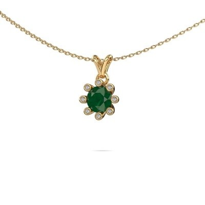 Picture of Pendant Carola 3 585 gold emerald 6 mm