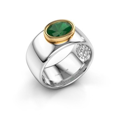 Picture of Ring Anouschka 585 white gold emerald 8x6 mm