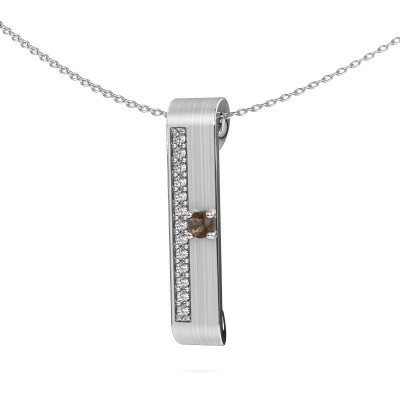 Picture of Necklace Vicki 950 platinum smokey quartz 3 mm