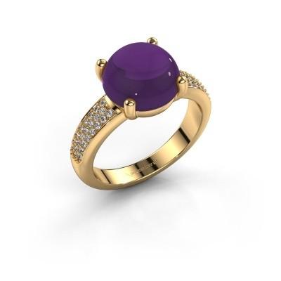 Foto van Ring Sophie 585 goud amethist 10 mm