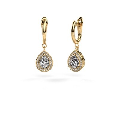 Foto van Oorhangers Ginger 1 585 goud diamant 1.41 crt