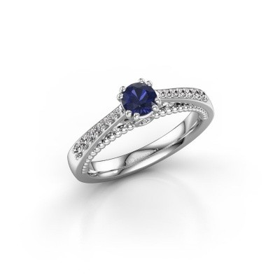 Picture of Engagement ring Rozella 585 white gold sapphire 4.2 mm