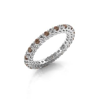 Foto van Aanschuifring Rufina 3 925 zilver bruine diamant 0.896 crt