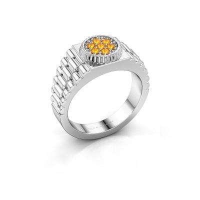 Foto van Rolex stijl ring Nout 925 zilver citrien 2 mm