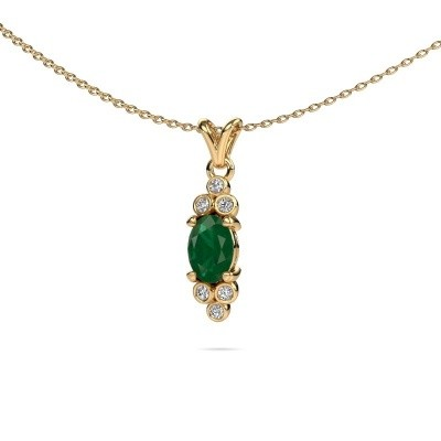 Picture of Pendant Lucy 2 375 gold emerald 7x5 mm