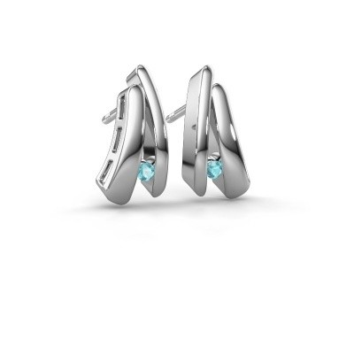 Picture of Earrings Liesel 925 silver blue topaz 2 mm