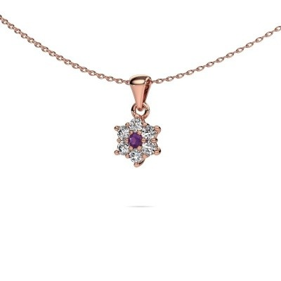 Picture of Necklace Chantal 585 rose gold amethyst 2.4 mm