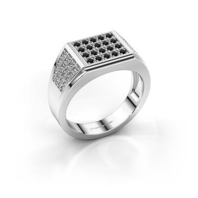 Foto van Heren ring Tim 925 zilver zwarte diamant 0.714 crt