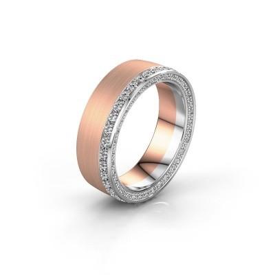 Trouwring WH2224L26C8 585 rosé goud diamant 0.54 crt ±6x2.2 mm