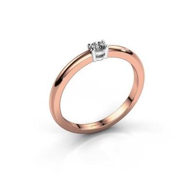 Foto van Verlovingsring Michelle 1 585 rosé goud diamant 0.08 crt
