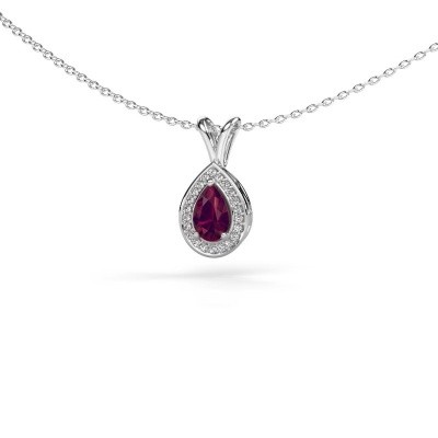 Picture of Necklace Ginger 925 silver rhodolite 6x4 mm