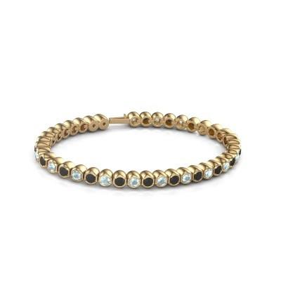 Foto van Tennisarmband Mellisa 375 goud zwarte diamant 7.92 crt