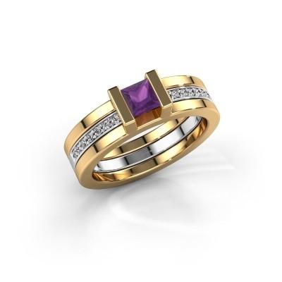Foto van Ring Desire 585 goud amethist 4 mm