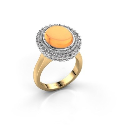 Foto van Ring Mila 585 goud citrien 12x10 mm