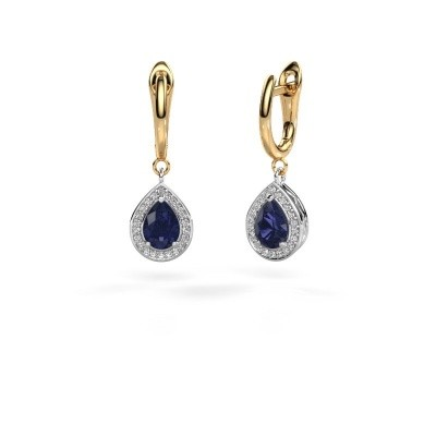 Picture of Drop earrings Ginger 1 585 white gold sapphire 7x5 mm