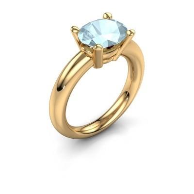 Ring Janiece 585 goud aquamarijn 10x8 mm