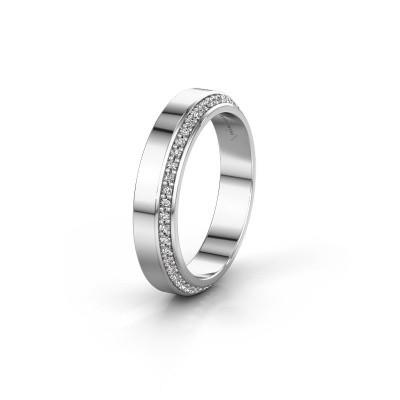 Trouwring WH2106L14C 585 witgoud diamant ±4x2.2 mm