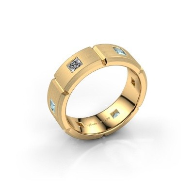 Heren ring Steve 585 goud diamant 1.02 crt