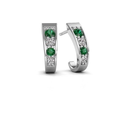 Picture of Earrings Glady 925 silver emerald 3 mm