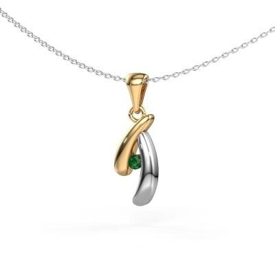 Picture of Pendant Jinke 585 gold emerald 2.5 mm