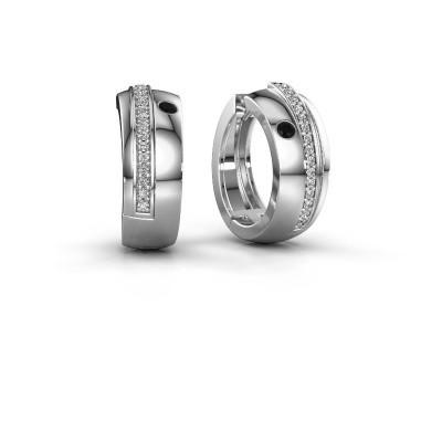 Picture of Hoop earrings Shakita 925 silver black diamond 0.222 crt