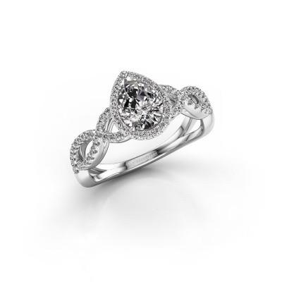 Foto van Verlovingsring Dionne 585 witgoud diamant 0.99 crt