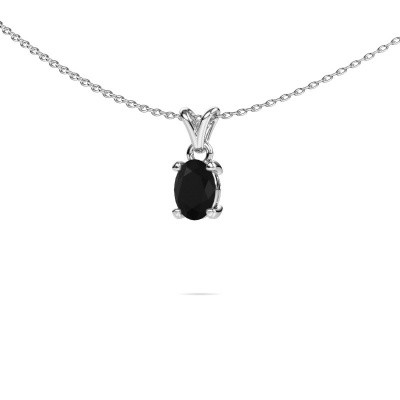Picture of Necklace Lucy 1 950 platinum black diamond 0.96 crt